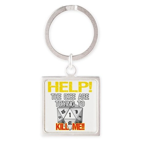 d20Help Square Keychain