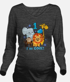 baby1JungleAnimals Long Sleeve Maternity T-Shirt