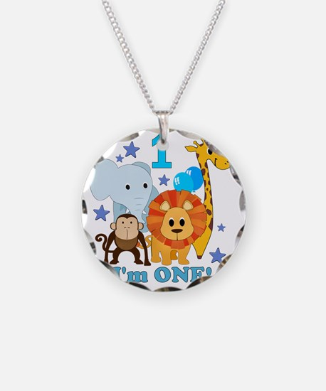 baby1JungleAnimals Necklace Circle Charm