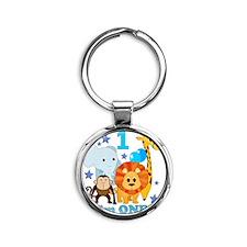 baby1JungleAnimals Round Keychain