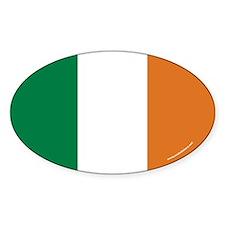 Irish Flag Euro Oval Decal