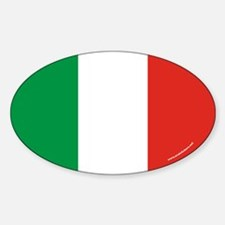 Italy Flag Euro Oval Decal