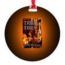 Tribal Fires button mag Ornament
