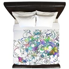 Butterflies and Circles King Duvet