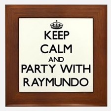 Keep Calm and Party with Raymundo Framed Tile