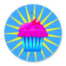 holy cupcake Round Car Magnet