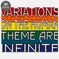Variations outline 2 full Rainbow tshirt Puzzle