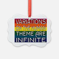 Variations outline 2 full Rainbow Ornament