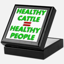 Healthy Cattle Healthy People Keepsake Box