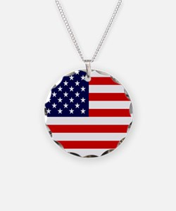 American USA Flag Necklace