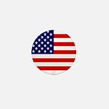 American USA Flag Mini Button
