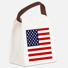 American USA Flag Canvas Lunch Bag