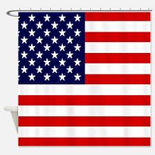 American USA Flag Shower Curtain