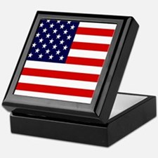 American USA Flag Keepsake Box