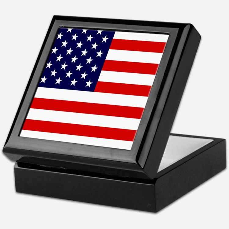 American USA Flag Keepsake Box