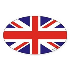 British Flag Euro Oval Decal