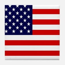 American USA Flag Tile Coaster