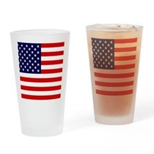 American USA Flag Drinking Glass