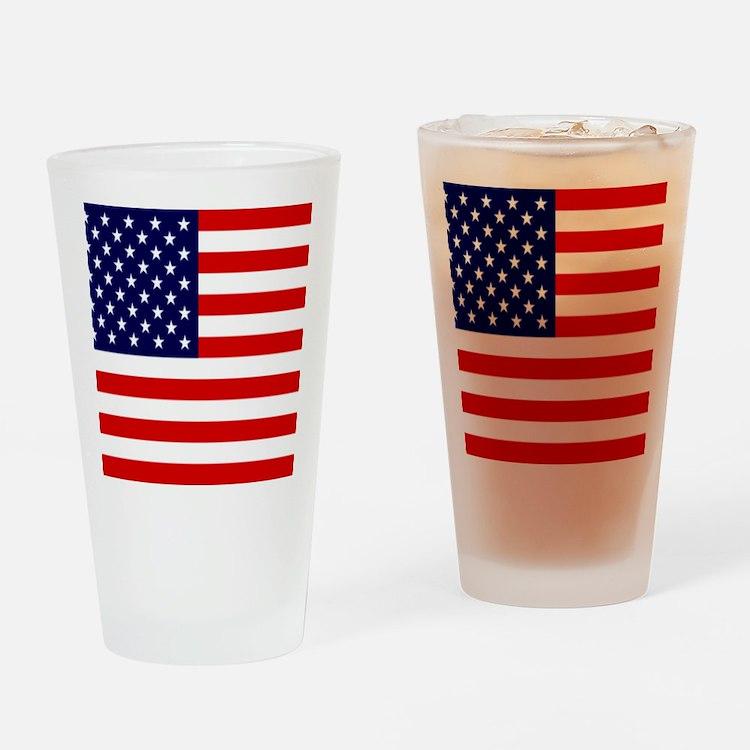 American USA Flag Drinking Glass
