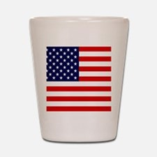 American USA Flag Shot Glass