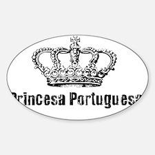 Princesa Portuguesa Sticker (Oval)