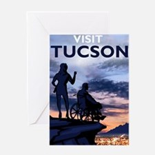 Visit Tucson framed print Greeting Card
