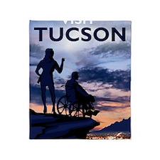 Visit Tucson framed print Throw Blanket