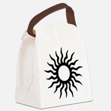 Tribal Sun Icon Canvas Lunch Bag