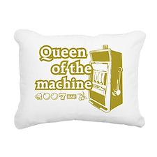 queenSlotD Rectangular Canvas Pillow