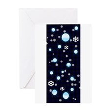 Snowflakes and Snowballs Greeting Cards