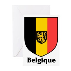 Belgique / Belgium Shield Greeting Cards (Package