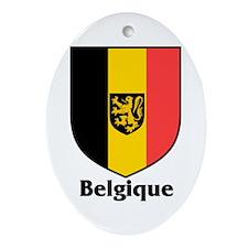 Belgique / Belgium Shield Oval Ornament