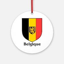 Belgique / Belgium Shield Ornament (Round)