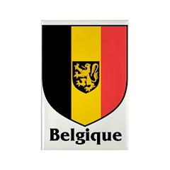 Belgique / Belgium Shield Rectangle Magnet