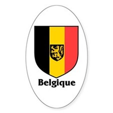 Belgique / Belgium Shield Oval Decal