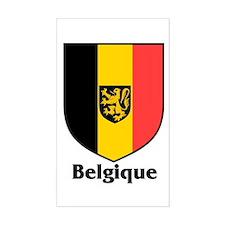 Belgique / Belgium Shield Rectangle Decal