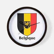 Belgique / Belgium Shield Wall Clock
