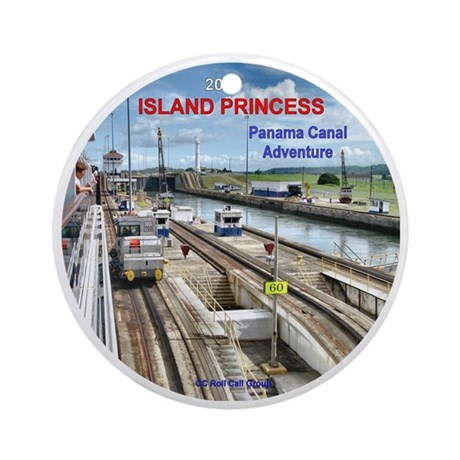 Panama Canal Adventure- Island Prin Round Ornament