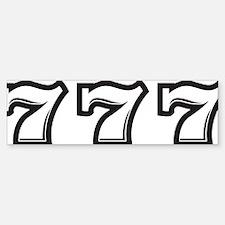 777A Bumper Bumper Sticker