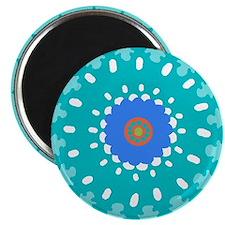 sunburst blue Magnet