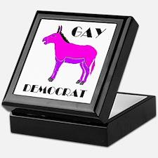 GAY DEMOCRAT Keepsake Box