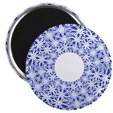 drawnwork blue Magnet