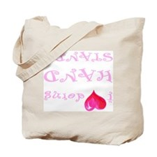 I heart doing handstands pink Tote Bag