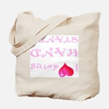 I heart doing handstands pink Tote Bag