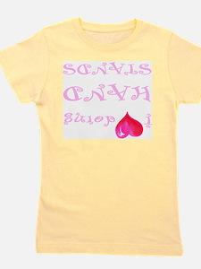 I heart doing handstands pink Girl's Tee
