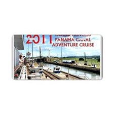 Panama Canal - rect. photo  Aluminum License Plate