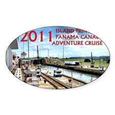 Panama Canal - rect. photo with boa Decal