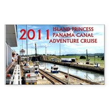 Panama Canal - rect. photo wit Decal