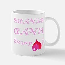 I heart doing handstands pink Mugs