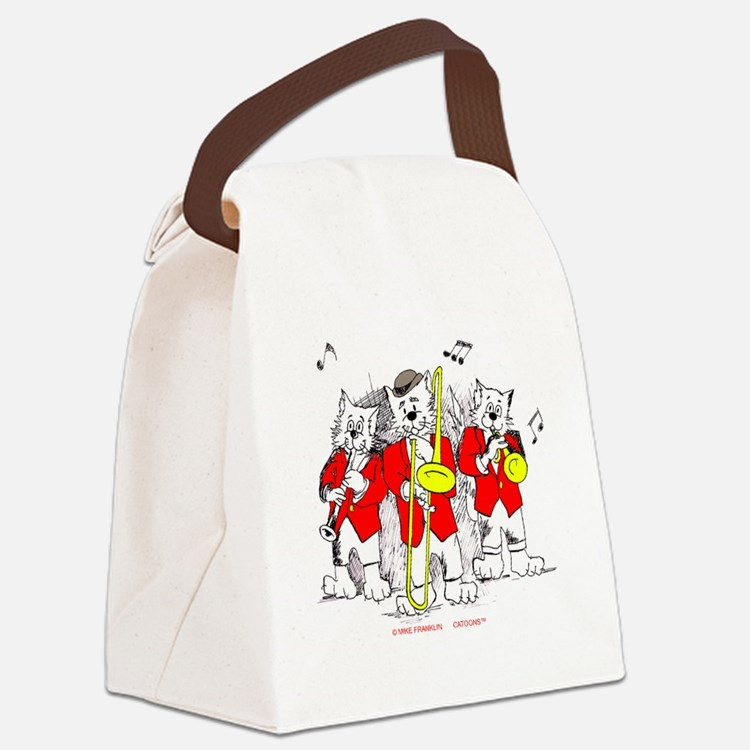 Jazz Cats Trio Trans. Background  Canvas Lunch Bag